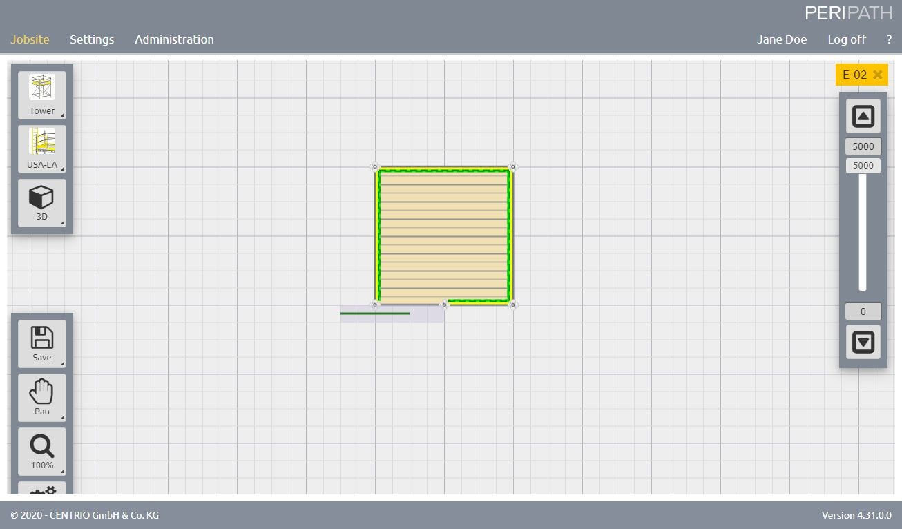 American Ladder | 2D View Scaffold Estimation Tool