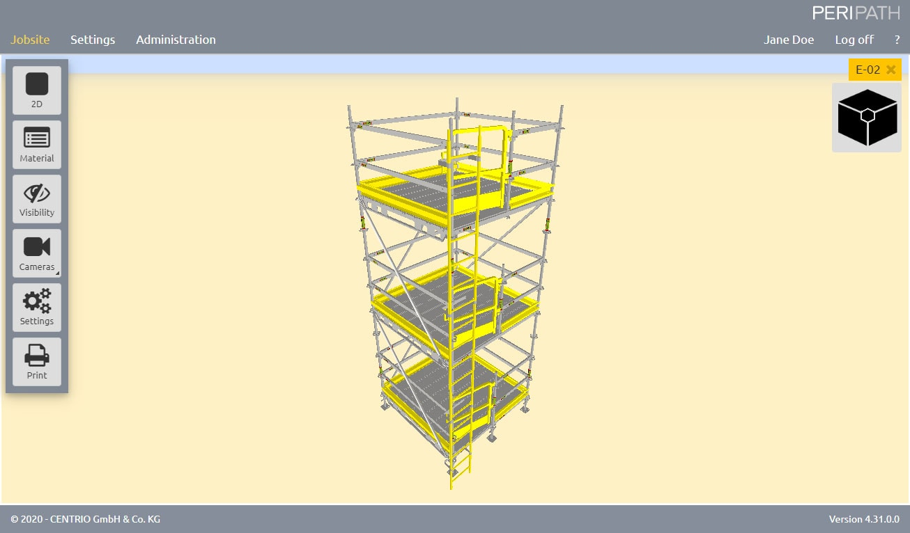 American ladder access   3D View Scaffold Estimation Tool