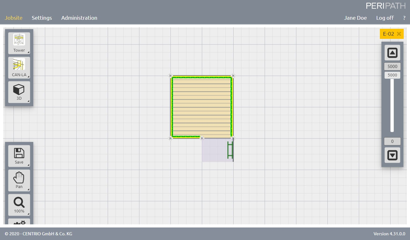 Canadian Ladder | 2D View Scaffold Estimation Tool