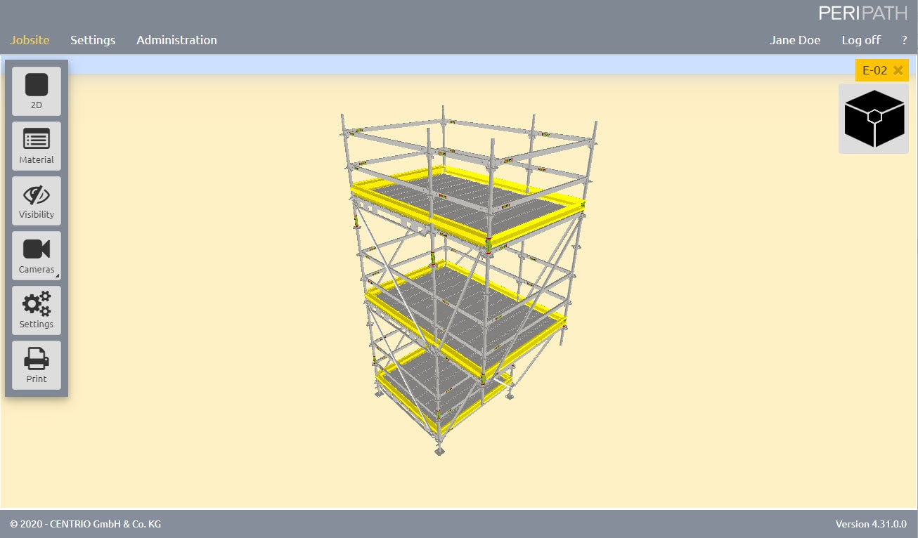 Cantilever | 3D View Scaffold Estimation Tool