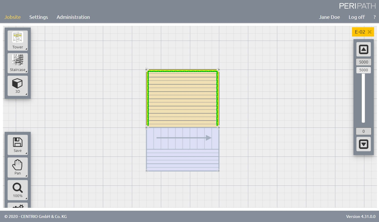 Stair 75 | 2D View Scaffold Estimation Tool