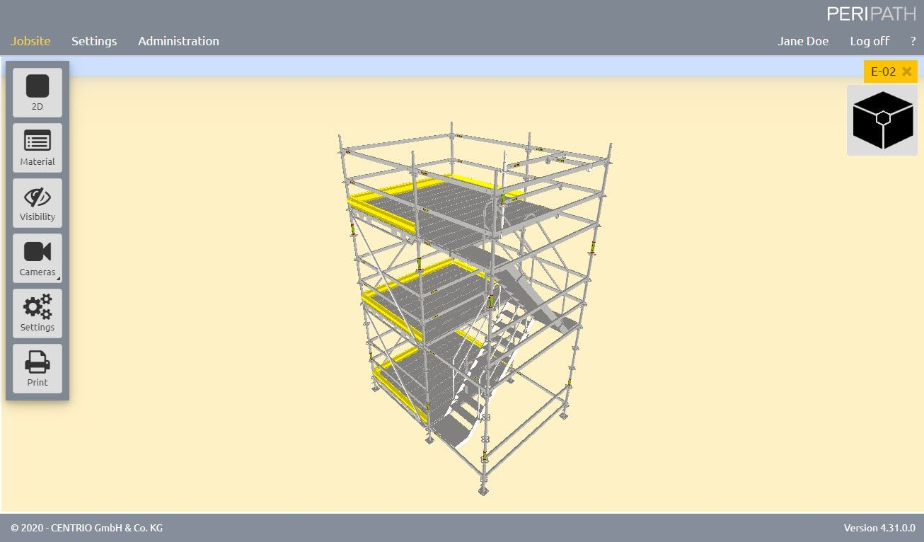 Stair 75 | 3D View Scaffold Estimation Tool