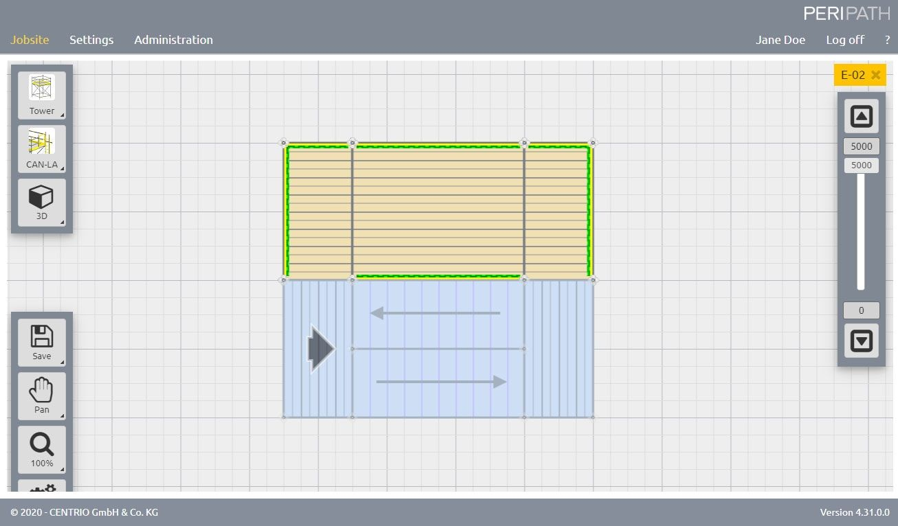 Staircase | 2D View Scaffold Estimation Tool