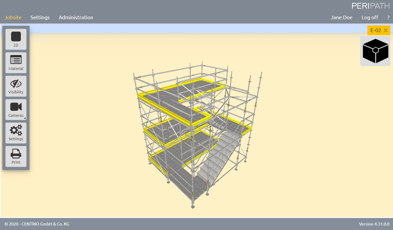 Staircase | 3D View Scaffold Estimation Tool