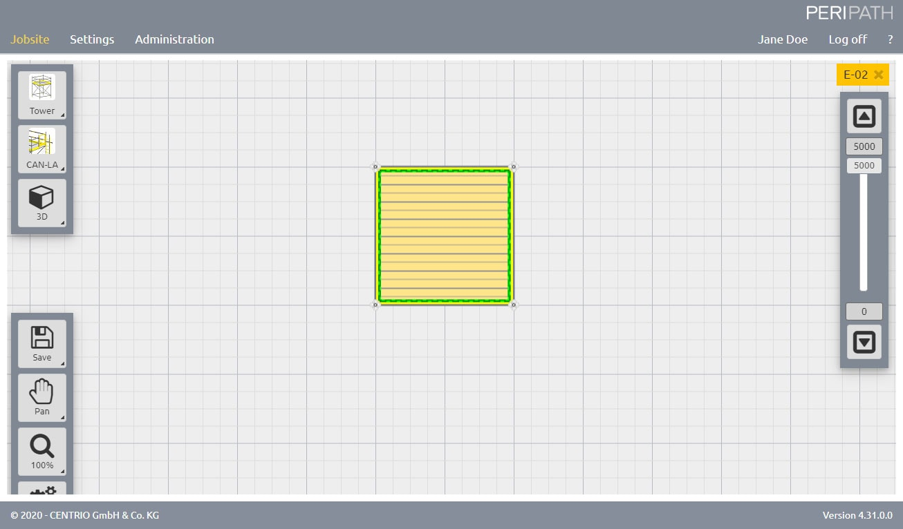 Tower   2D View Scaffold Estimation Tool
