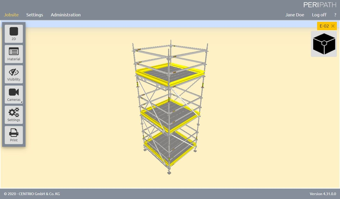 Tower | 3D View Scaffold Estimation Tool