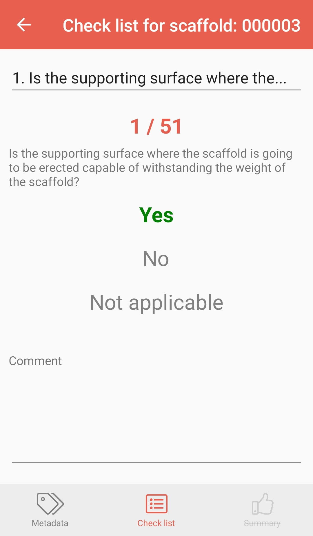 PERIpath Mobile App | Inspections | Check list