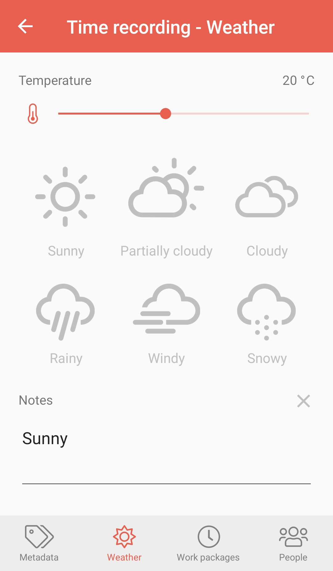 PERIpath Mobile App | Time recording | Weather