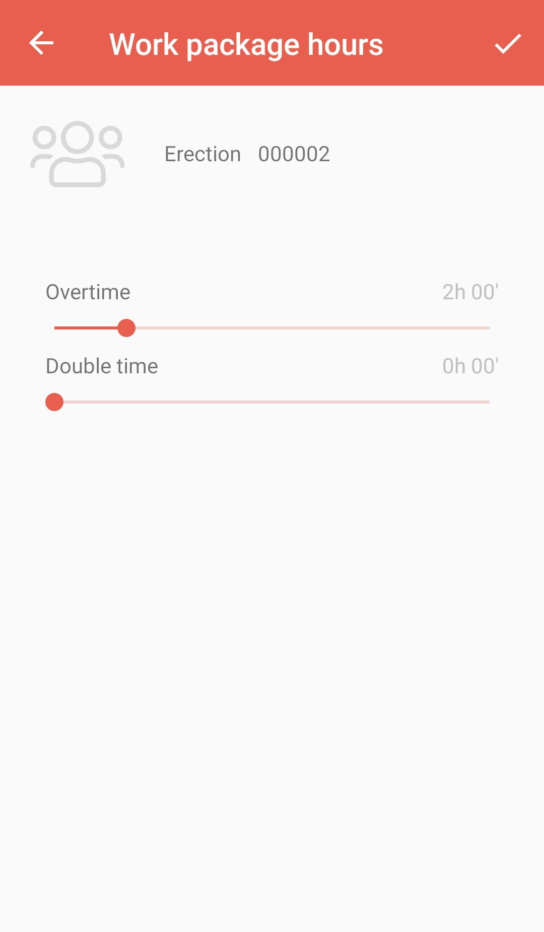 PERIpath Mobile App | Time recording | Work package hours
