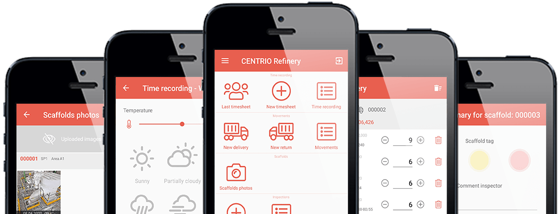 Smartphones with PERIpath Mobile App